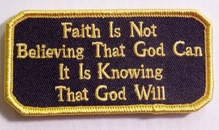FAITH IS NOT BELIEVING THAT GOD CAN, IT IS KNOWING THAT GOD WILL