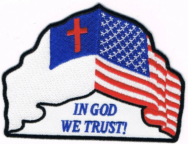 IN GOD WE TRUST! CHRISTIAN AND US FLAG
