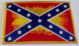 Rebel Confederate Flag with flames