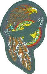 Hawk, Feathers, Indian Shield (LRG)
