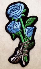 ROSES BLUE TIED WITH FEATHER