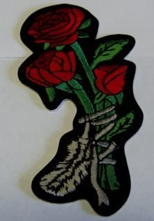 ROSES RED TIED WITH FEATHER