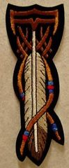 FEATHER, BEADS, SHIELD