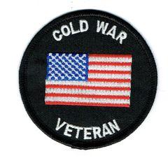 COLD WAR VETERAN & AMERICAN FLAG