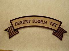 DESERT STORM VET W/ AMERICAN FLAG (ROCKER)
