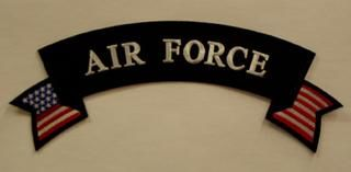 AIR FORCE W/ AMERICAN FLAG (ROCKER)