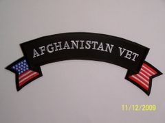 AFGHANISTAN VET W/ AMERICAN FLAG (ROCKER)