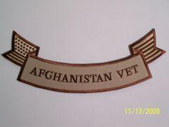AFGHANISTAN VET W/ AMERICAN FLAG SUBDUED (BOTTOM ROCKER)