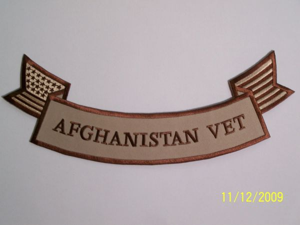 AFGHANISTAN VET W/ AMERICAN FLAG SUBDUED (BOTTOM ROCKER)