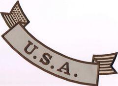 U.S.A. W/ AMERICAN FLAG SUBDUED (BOTTOM ROCKER)