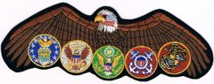 MILITARY EMBLEMS PROTECTED BY AMERICAN EAGLE