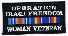 OPERATION IRAQI FREEDOM WOMAN VETERAN W RIBBON