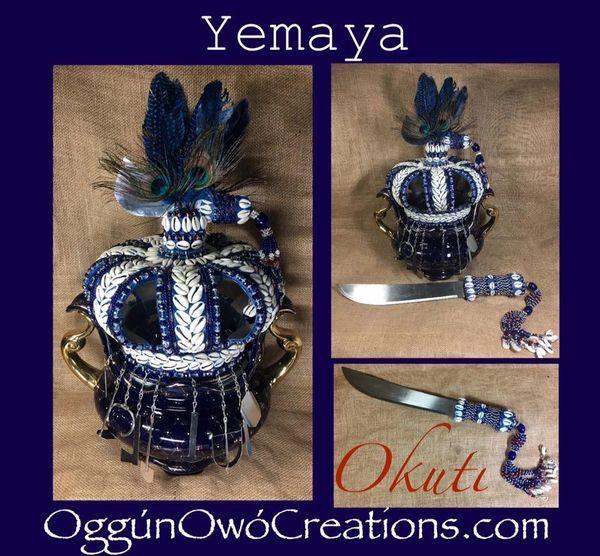 Crown Yemaya Okuti with Machete