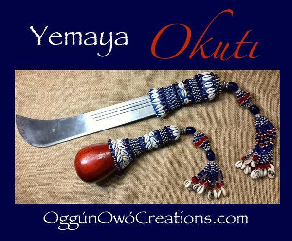 Set de ahere & machete de Yemaya Okuti (maraca)