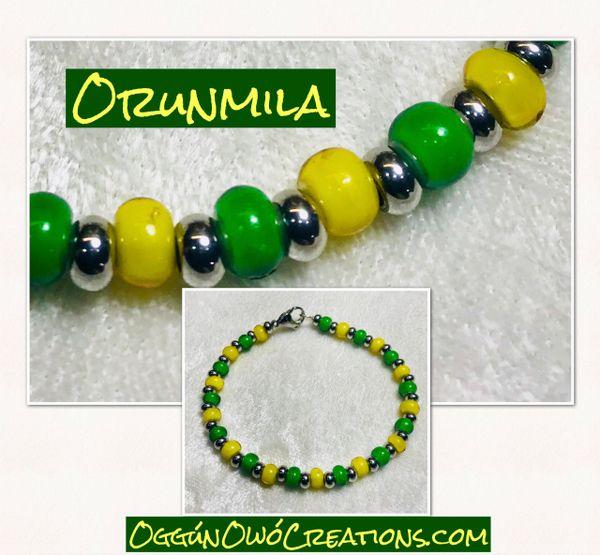 Ilde de Orunmila African & Stainless steel beads