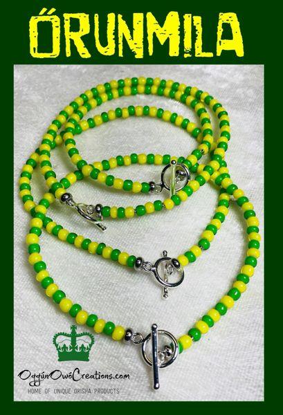 Ilde de Orunmila small African beads