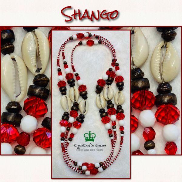 Eleke de Chango with shells 3 (1 Strand )