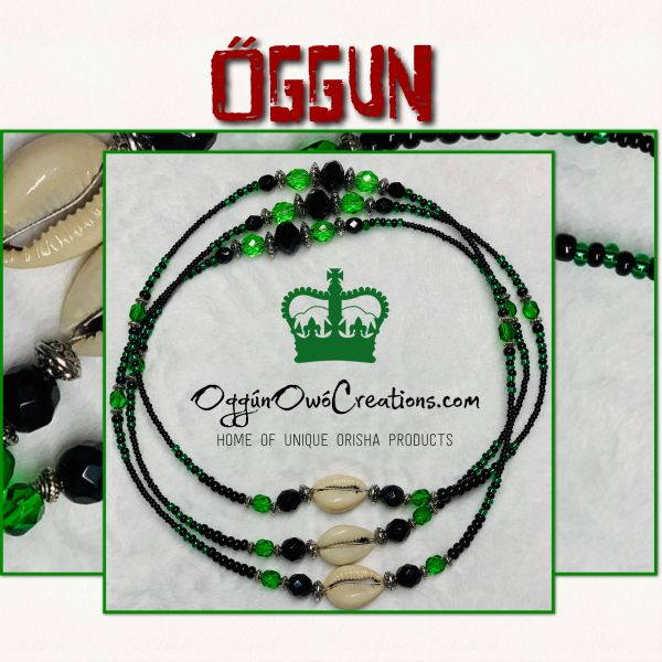 Eleke de Oggun with Cowrie Shells