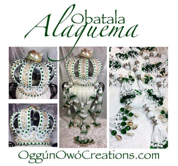 Crown and Mazo for Obatala Alaguema