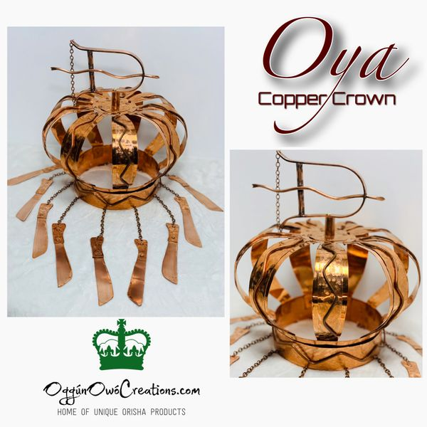 Large crown for Oya in copper