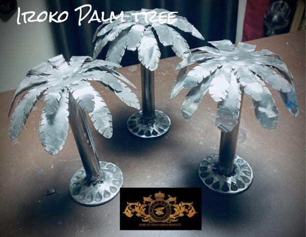 Iroko metal palm trees