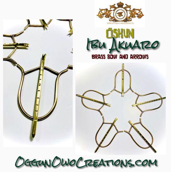 Oshun Ibu Akuaro brass bow and arrows