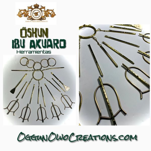 Oshun Ibu Akuaro complete set in brass