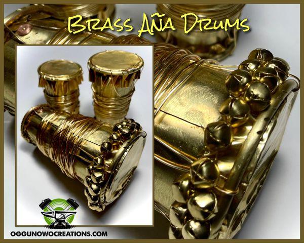 Brass Aña drums