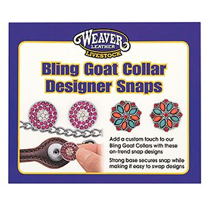 Designer Bling Goat Collar Snaps
