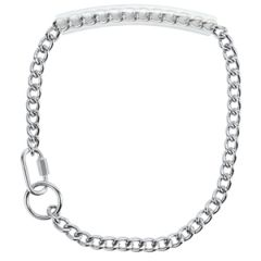 Chain Goat Collar with Rubber Grip