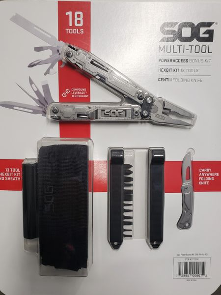 SOG POWER ACCESS MULTI-TOOL W/ HEX BIT KIT