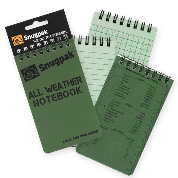 Snugpak All Weather Notebooks Small Olive