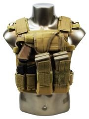 Armor / Sentry Plate Carrier w/ Pouches - BLACK/COYOTE/OD/MULTICAM