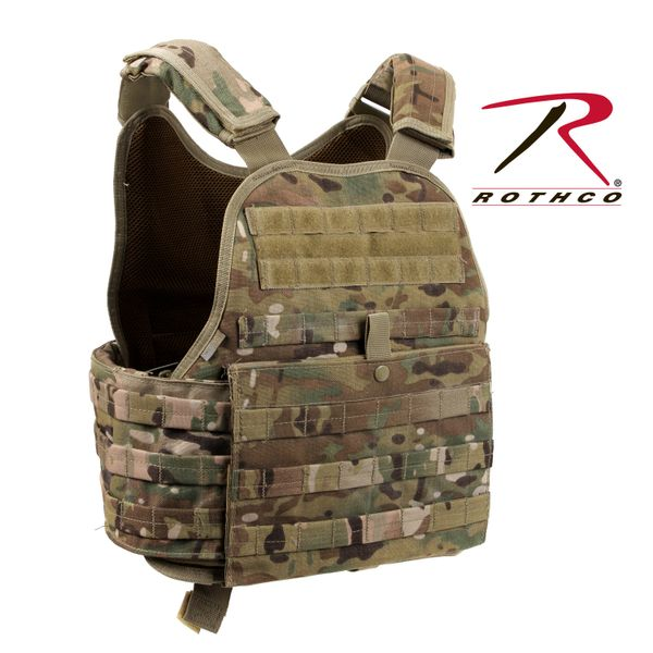 ARMOR/ROTHCO MULTICAM MOLLE PLATE CARRIER