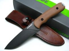 Schrade Frontier Full Tang Fixed Blade Desert Grivory Handle
