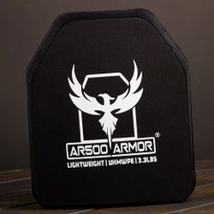 "AR500 Armor® Level III Lightweight UHMWPE Body Armor 10"" x 12"""