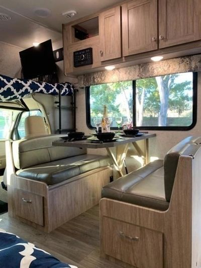 Arrive to a beautifully set up RV Rental in San Diego at your favorite campsite and ready to enjoy