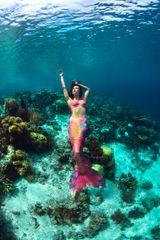 Tropical Silicone Mermaid Tail
