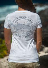 Women's Whale shark STS shirt - White