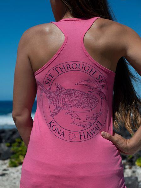 Women's Whale shark racerback - Pink