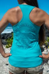 Women's Whale shark STS racerback - Teal