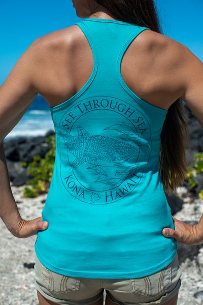 Women's Whale shark STS racerback - Teal