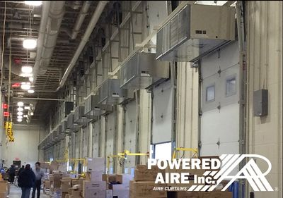 Powered Aire's Loading Dock air curtain