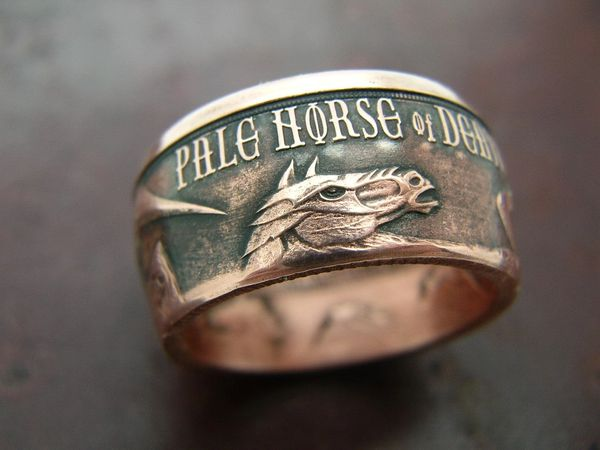 PALE HORSE OF DEATH Coin ring