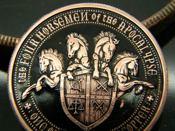 4 Horseman, Pale Horse of Death coin