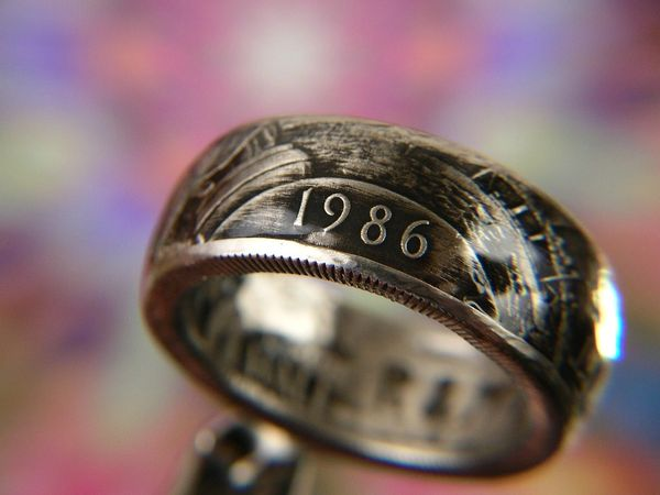 1986 Statue of Liberty Half Dollar Coin Ring