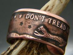 Don't Tread On Me Copper Coin Ring