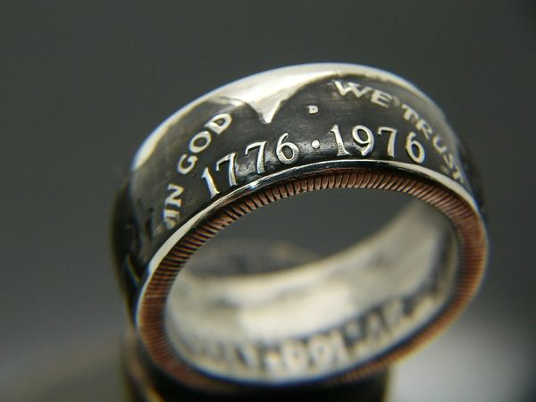 Bicentennial Kennedy Half Dollar Coin Ring