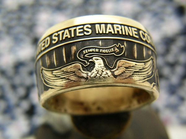 Marine Corps Wide Body Ring