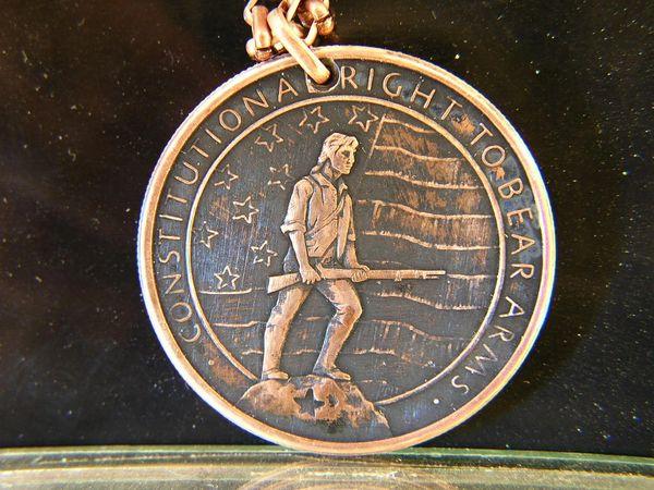 2nd Amendment 1 oz. Copper Pendant